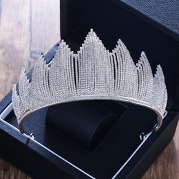 Big Pearl Tiaras Australia - Luxury Trendy Full Rhinestone Crystal Tiara Big Crown For Wedding Bride Queen Headpiece Crown Wedding Bridal Hair Accessories C18122501
