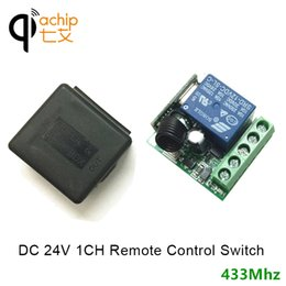 universal learning remote control 2019 - DC 24V 1 channel wireless remote control relay switch module learning code DC 24V RF superheterodyne receiver 1CH contro