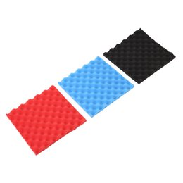 sound glasses Canada - Decoration Office Home Foam Sticker Sound Absorption Tiles Flame-Retardant Black Red Blue Studio Club KTV Sound-Absorbing