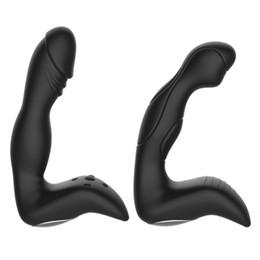 Vente en gros 10 Vitesses Silicone Plug Anal Prostate Vibrator Puissant Stimulateur de Butt Adulte Sexe Jouet pour Hommes Couples