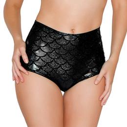 $enCountryForm.capitalKeyWord Australia - High Waist Candy Color Patent Leather Sexy Pole Dance Booty Shorts Clubwear Micro Shorts Fish Scale Perlage Mini Short Mujer