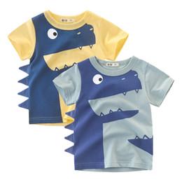 $enCountryForm.capitalKeyWord UK - 1-6Years Cartoon Dinosaur Print Baby Boys Shorts T Shirt For Summer New Infant Kids Boys Girls Topwear Clothes Cotton