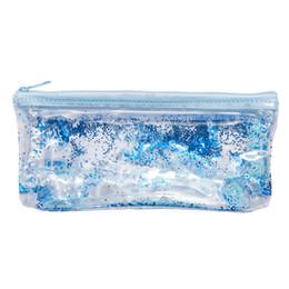 Cross Pens Wholesale Australia - BAGS FOR WOMEN 2019 Fashion Women Student Transparent Crystal Zipper Clutch Bag Makeup Pouch Pen Bag bolsa feminina *0.92