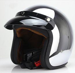 $enCountryForm.capitalKeyWord Australia - open face motorcycle helmet harley vintage kask motocycle capacete chrome sliver retro casque Mirror pilot jet moto3 4 half open