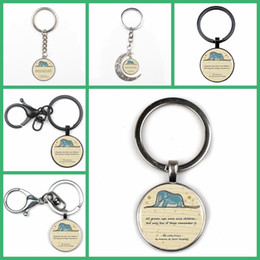 $enCountryForm.capitalKeyWord Australia - Fashion Cute Elephant Pendant Keychain Silver Glass Crystal Keyring Fun Car Charm Bag Key Chain Man Woman Gift Friend Souvenir