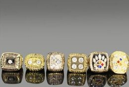 Wooden jeWelry sets online shopping - New Super Bowl Champion Ring Wooden Box Set Men s Ring Jewelry Set piece
