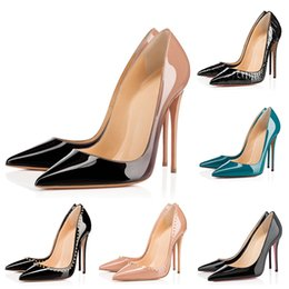 Wholesale Designer Women Heels Red Bottoms Pumps High Heels Black Nude Pointed Toes Round Red Bottom Dress Wedding Shoes