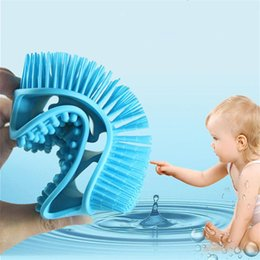 shower head massager UK - New Ultra Soft Silicone Bath Shower Massage Brush Adult Baby Head Body Massager Washing Comb Shower Bath Spa Shampoo Massage Brush