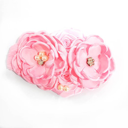 $enCountryForm.capitalKeyWord Canada - DIY baby headbands newborn designer headband pearl flower girls designer headbands rose rhinestone hair accessories for girls headband A5783