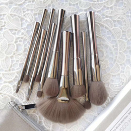 Piece Cosmetic Bag Wholesale Australia - 2019 B Cosmetics SMOKE ' N MIRRORS 10 piece brush set with Cosmetic bag Professional Makeup Brush Kits