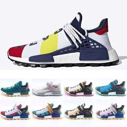 trail running shoes hiking NZ - Men & Women Homecoming Heart Mind Human Race trail Running Shoes Pharrell Williams HU Runner Solar Pack sports Nerd Trainer sneakers