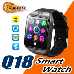 $enCountryForm.capitalKeyWord Australia - Smart Watch Q18 wireless smart wristbands NFC Remote camera SIM Card Passometer for ios android samsung htc lg smart watches facebook