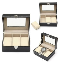 Wholesale Fashion New Jewelry Watch Display Box Collection Case Holder Organizer Metal Buckle New Jewelry Watch