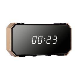 Clock Camera Recorder Australia - 4K HD Night vision Wifi Mirror clock camera Wireless alarm clock video recorder Max 128G