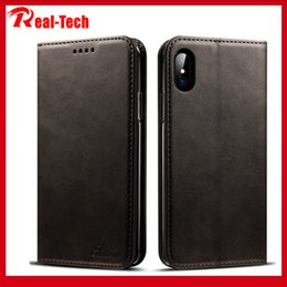 iphone clamshell case UK - The new applicable iPhone11Max leather 8Plus phone shell protective sleeve apple XR card S10 clamshell