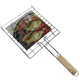 grill net Australia - Butterfly Roast Fragrant Barbecue Double Fish Clip Oven Fish Clip Grilled Fish Clip Meat Folder Barbecue Net Bread Folder Hamburger