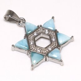 jade chain designs Canada - New Design 100% 925 Sterling Silver Pendants Fine Larimar Pendant Charms with Natural Larimar Pendant without Chain for Girls