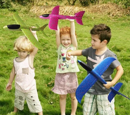 $enCountryForm.capitalKeyWord NZ - 48cm Foam Throwing Glider model Air Plane Inertia Aircraft Toy Hand Launch Airplane Model To glide the plane Flying Toy for Kids Gift