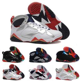 cdb4899de8ad33 2019 7 7s Mens Basketball Shoes Purple UNC Bordeaux Olympic Panton Pure  Raptor Retro VII Designer Men Sneakers Trainers Sports Shoes 36-46