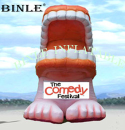 teeth modelling NZ - Customized vivid giant inflatable tooth balloon inflatable teeth model for dental promotion