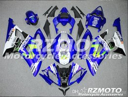 Yamaha Blue Australia - 4 Free Gifts New Injection ABS Fairing kits 100% Fit for YAMAHA YZFR6 08 09 10 11 12 13 14 15 YZF R6 2008-2015 YZF600 set Blue Black KJ4