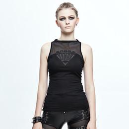 $enCountryForm.capitalKeyWord Australia - Devil Fashion Spring Summer Punk Women Sexy See-through Vest Gothic Black Sleeveless Fitted T-shirt Tops Y19042801