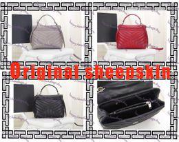 Patent leather totes online shopping - OL tote Bags Designer Handbags sheepskin caviar metal chain gold silver Designer Handbag Genuine Leather bag Flip cover diagonal Shoulder