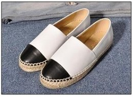 Women Canvas Shoes Colors NZ - 2019New Fashion Canvas and Real Lambskin women Espadrilles Flat Shoes Summer Loafers Espadrilles Size EUR34-42 Many Colors with Box h887
