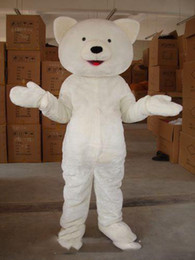 professional polar bear costume UK - Professional custom small eyes plush bear Mascot Costume Cartoon white polar bear Character Clothes Christmas Halloween Party Fancy Dress
