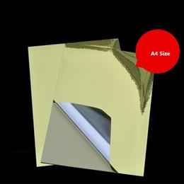 $enCountryForm.capitalKeyWord NZ - 50Sheets lot A4 Self Adhesive Silver Aluminum Foil Printing Paper Copy Sticker Label Paper For Laser Printer21*29.7cm