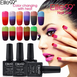 Nail polishes chaNge color online shopping - Elite99 Color Nails UV Gel Polish Chameleon Mood Changing Gel Polish Led UV Gel Lacquer Nail Gels Manicure Varnish ML PC