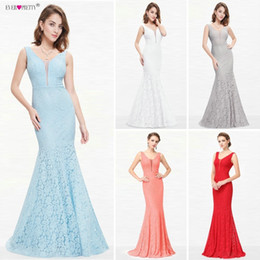 $enCountryForm.capitalKeyWord Australia - Lace Mermaid Prom Dresses Long 2019 Ever Pretty Ep08838 Christmas Holiday Party Sexy V-neck Elegant Prom Gala Dresses GownsQ190330