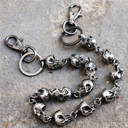 $enCountryForm.capitalKeyWord Australia - Metal 3 Layers Screw Ring Rock Punk Key Chains Clip Hip Hop Jewelry Pants KeyChain Wallet Chain