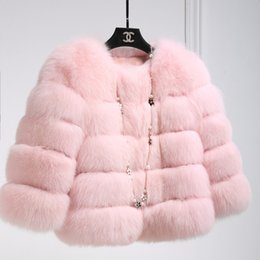 $enCountryForm.capitalKeyWord Australia - Faux Fur Coat 2019 Women Warm Jacket Winter Fluffy Pink Women Jackets Short Faux Fur Coat