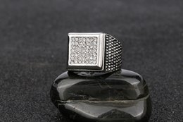 Ring Tin Australia - Size7 8 9 10 925 Silver Band Micropave CZ AAA Crystal Men's Hip Hop Bling Iced Out Pinky Ring