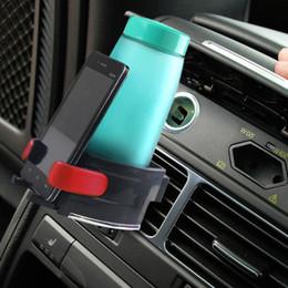 Car drink holders online shopping - Universal Adjustable Air Vent Outlet Auto Car Drink Holder Car Beverage Bottle Cup Frame for Truck Van
