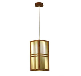 Chinese  Japan Style Bamboo Pendant Lamp Handmade Wood Lantern Restaurant Bar Cafe Bistro Hotel Teahouse Bedroom Suspension Hanging Light LLFA manufacturers
