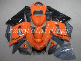 Zx6r Black Orange Australia - New ABS motorcycle bike Fairings Kits Fit For kawasaki Ninja ZX6R 636 2005 2006 05 06 6R 600CC bodywork set Fairing custom Orange black