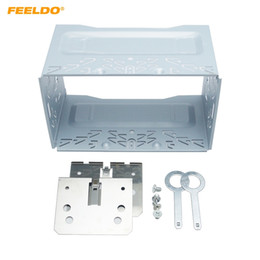 China FEELDO Car Radio 2DIN Installation Metal Cage Kits Brackets Screws Keys for Volkswagen 1997-2009 Series Jetta Chico Golf Bora Polo MK3 #1463 cheap 2din kit suppliers