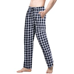 50be9d0b57 NIBESSER Spring 2019 Sleep Bottoms Men Fashion Plaid Printed Loose Trousers  Casual Sleepwear Sexy Pajamas Pants Male