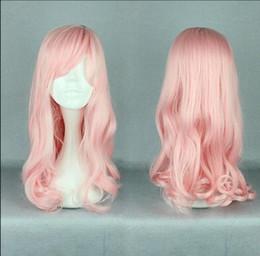 $enCountryForm.capitalKeyWord Australia - WIG free shipping Long pink Women 50CM Lolita Hair Anime Cosplay Wig Curly Wavy Costume Party Wig