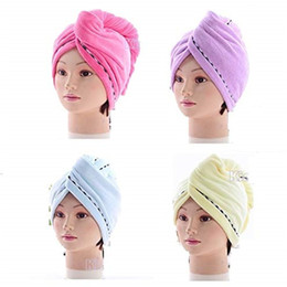 cotton hair wraps NZ - Soft Dry Hair Quick Drying Shower Cap For Fiber Material 3 Piece Set Of Wrapped Towel Turban Head Wrap Bathing Tools