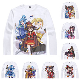 92c6283fe5c Kazuma Sato Aqua T Shirt KonoSuba God's Blessing on this Wonderful World  Men T-shirt Casual Vintage TShirt Printed Long Sleeve Shirts