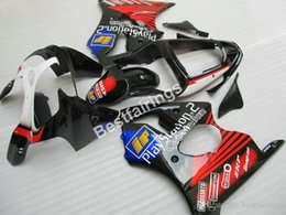 Red Black Kawasaki Zx6r NZ - Top-selling injection mold fairing kit for Kawasaki Ninja ZX6R 00 01 02 red black fairings set ZX-6R 2000 2001 2002 FX43