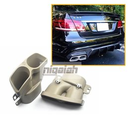 $enCountryForm.capitalKeyWord Australia - B Style Carbon Fiber Rear Lip Diffuser with Muffler Tip for Mercedes W212 E Class E63 E400 2014 2015