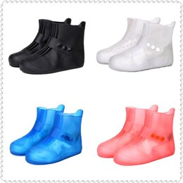 Wholesale Solid Men Rain Boots Waterproof Rubber Women Rain Shoe Covers Frosted Girls Galoshes Overshoes Boy Shoe Protectors Rainboots