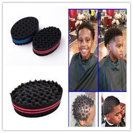 $enCountryForm.capitalKeyWord Australia - 220pcs Magic Double Head Sponge Men Barber Hair Brush Black Dreads Locking Afro Twist Curl Coil Brush Hair Styling Tools Hair Care