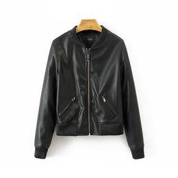 $enCountryForm.capitalKeyWord NZ - Black Women Bomber PU Leather Jackets 2019 Spring-Autumn Ladies Chic Street-wear Coats Cool Moto-biker Girls Bomb Outfit clothes