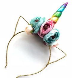 hair horns Australia - Children's bow tie hair hoop horn baby cat ear golden balcony hair headdress WL236