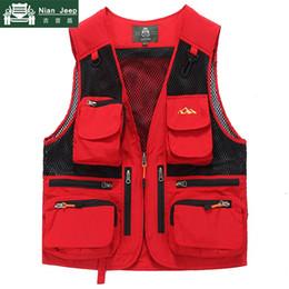 $enCountryForm.capitalKeyWord Australia - New Outwear Photography Vest Men Sleeveless Jacket Multi Pocket Mens Waistcoat Mesh Vest Male chaleco hombre Plus Size M-5XL